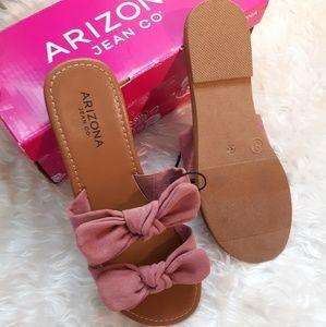 Arizona Jean Co size 8 Mauve Bow Sandals NIB